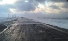 Перелив песчаных кос морскими волнами ожидается на западном побережье Камчатки