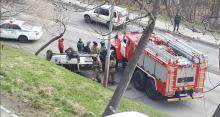 Иномарка перевернулась на дороге в Петропавловске-Камчатском