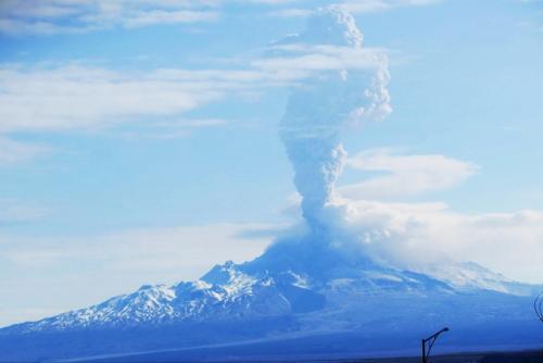 Вулкан Шивелуч на Камчатке выбросил пепел на 10 км